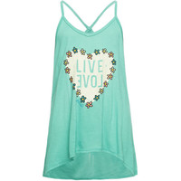 O'neill Flower Child Girls Tank Green  In Sizes