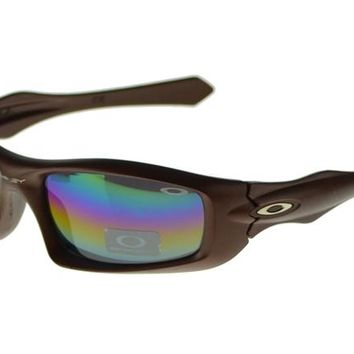 Oakley Asian Fit Sunglasses Brown Frame Colored Lens