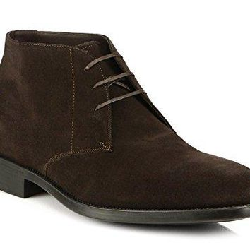 Salvatore Ferragamo Men's Pioneer Brown Suede Chukka Ankle Boots Shoes Triple E EEE
