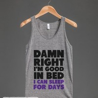 Good In Bed-Unisex Athletic Grey Tank