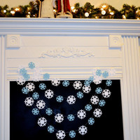 Paper Garland Holiday Decor 10ft Snowflake Garland Christmas Decor Winter Wedding Decor Snowflake Photo Prop Classroom Teachers Decor