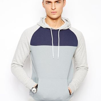 ASOS Hoodie With Cut And Sew Panel