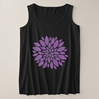 Purple Floral Mandala Plus Size Tank Top