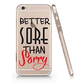 """Better Sore Than Sorry"" Text Quote Slim Iphone 6 6s Case, Clear Iphone Hard Cover Case For Apple Iphone 6 6s Emerishop (NLA083.6sl)"