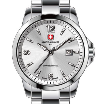 Swiss Military by R 54006 3 A Alpha Women's Watch Silver Dial Swiss Made