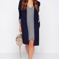 Cold Remedy Navy Blue Coat