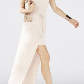 Taren Slit-Front Drawstring Dress - Pink