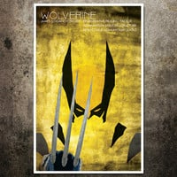 Wolverine XMen Comic Character Poster by ModernStylographer