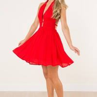 Downtown Romantic Red Dress