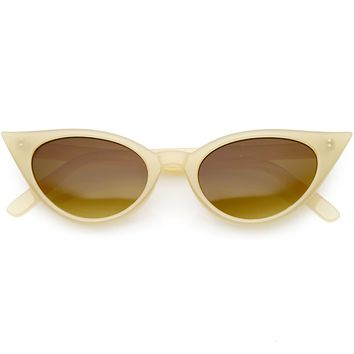 Women's Retro 1950's High Tipped Cat Eye Sunglasses C758