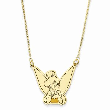 14k Yellow or White Gold Disney Tinker Bell Necklace