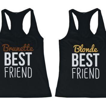 Brunette & Blonde BFF Tank Tops