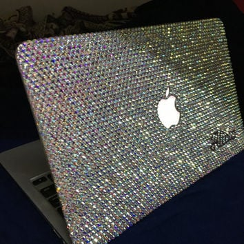 10% off Rhinestone Laptop Cases Bling Case Handmade Crystal AB macbook pro retina hard case/rainbow/swarovski elements/glittery/handmade