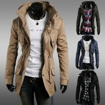 Jeansian Mens Jackets Blazer Coats Shirts Tops Outerwear 4 Colors 4 Size 9029