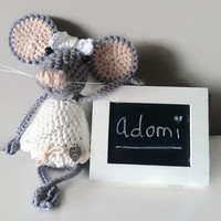 Crocheted Handmade Mouse - Stuffed Animal - Gift for Kids - Plush Toy - Kids Decoration - Pita the Mouse