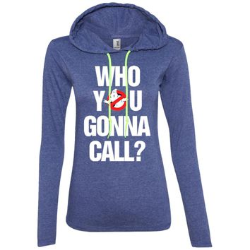Ghostbusters who you gonna call3-01 887L Anvil Ladies' LS T-Shirt Hoodie