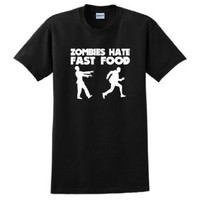 ThisWear Zombies Hate Fast Food T-Shirt