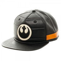 Star Wars Black Squadron Faux Leather Snapback Hat Cap