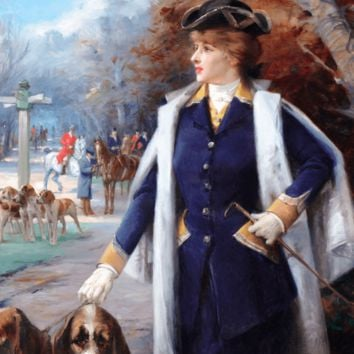 Sarah Bernhardt Hunting with Hounds by Louise Abbema - Fine Art | M.S. Rau Antiques, Since 1912