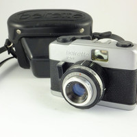 Vintage  Beirette VSN - Vintage camera, Made in Germany viewfinder 1970's,black leather case, Travel camera