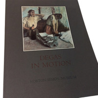 Degas in Motion Norton Simon Museum A Medaenas Monograph on the Arts of Edgar Degas Color Illustrations Prints 1982 Softcover Folio