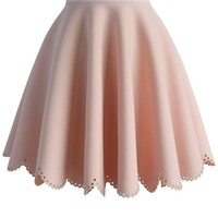 Petal Airy Skater Skirt in Pink