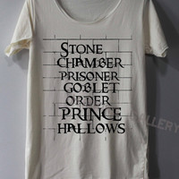 Stone Chamber Prisoner Shirt Harry Potter on the Wall Shirts TShirt T Shirt Tee Shirts - Size S M L