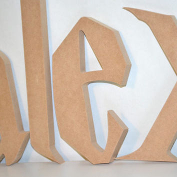 6 to 16 inch letters wood cut out from allyscustomart on etsy 6 to 14 inch letters wood cut out unfinished wooden letters harry potter font custom wall spiritdancerdesigns Gallery