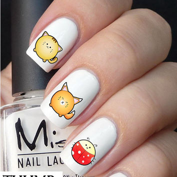Cuddly Animal Nail decals