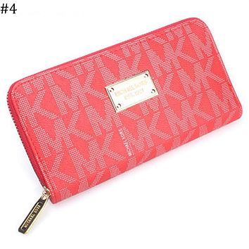 MK trend women's long zipper coin purse wallet clutch #4