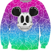 Skull Mouse Diamond Crewneck Sweatshirt