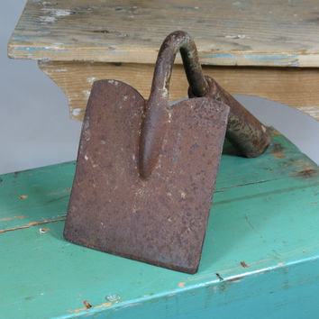 Old Hoe Head Unusual Square Shape Gardening Tool Vintage Garden