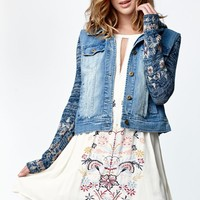 Billabong Nav This Jo Denim Moto Jacket - Womens Jacket