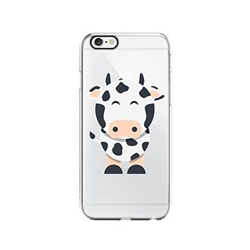Cute Cow Transparent Silicone Plastic Phone Case for iphone 7/8 _ LOKIshop (iphone 7/8)
