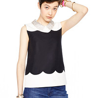 Kate Spade Francoise Top Black/Cream