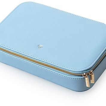 Blue Amelia Large Travel Jewellery Box | Oliver Bonas