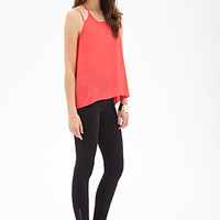 LOVE 21 Zippered Jodhpur Leggings Black