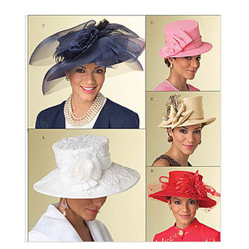 WOMENS HAT PATTERN Millinery Fascinator Evening Cocktail Sunday Church Hats Butterick 5004 One Size UNCuT Accessories Womens Sewing Patterns