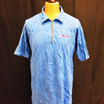 Retro Ralph Lauren Plain Mod Polo Blue Short Sleeved T-Shirt Large