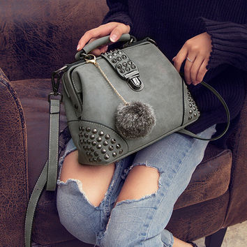 Womens Fashion Retro Leather Shoulder Bag Female Casual Crossbody Bag Women Messenger Bags Chic Handbag Gift 33