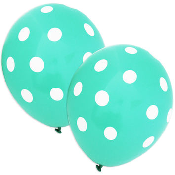 Wintergreen Polka Dot Balloons