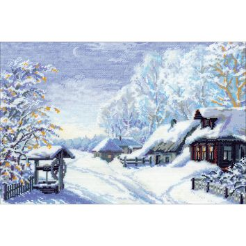"Russian Winter Counted Cross Stitch Kit-15""X10.25"" 15 Count"