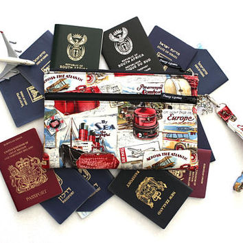 Family Passport Case - Family Passport Holder - Passport Cover - Family Travel Wallet - Travel Document Organizer - Boarding Pass Wallet