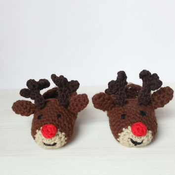 "Children Slippers ""Rudolph the red nosed reindeer"""