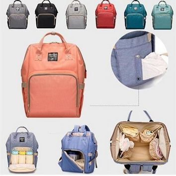 2017 Children Travel Backpack Desiger Nursing Bag Baby Changing Diaper Nappy Mummy Bag Mummy Maternity Nappy Bag Brand Large Cap