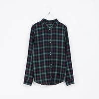 ROUND NECK CHECKED SHIRT - Shirts - TRF | ZARA United States