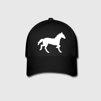 Horse Graphic Embroidery Customized Handmade Mustang Nerdy cowboy ponies Wild Funny Humor animals Outdoors Cotton Curved Dad hat