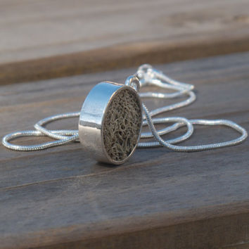 Eco Friendly Dual-Sided Moss Necklace, Terrarium Jewelry, Terrarium Necklace, Earth Day, Garden, Living Plant Jewelry
