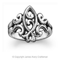 Scrolled Ichthus Ring from James Avery