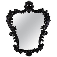 1940s Hollywood Mirror Cartouche Form Mirror by Grosfeld House